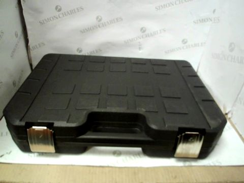 Lot 127 BLACK TOOLBOX OF SCREW HEADS AND ATTACHMENTS