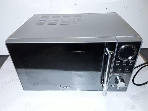 Lot 9128 SWAN SM3080N DIGITAL SOLO MICROWAVE WITH 10 POWER LEVELS, 800 WATT, 20 LITRE, SILVER