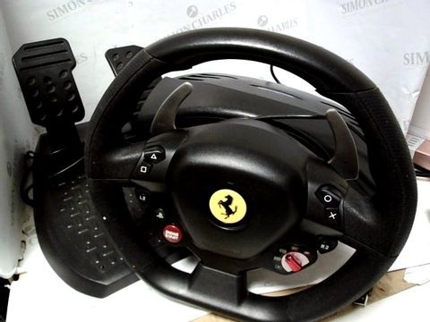 Lot 774 THRUSTMASTER T80 FERRARI 488 GTB EDITION RACE WHEEL WITH PEDALS