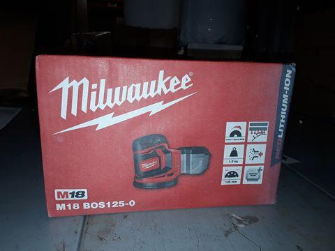 Lot 195 MILWAUKEE M18BOS125-0 125MM 18V LI-ION CORDLESS RANDOM ORBIT SANDER
