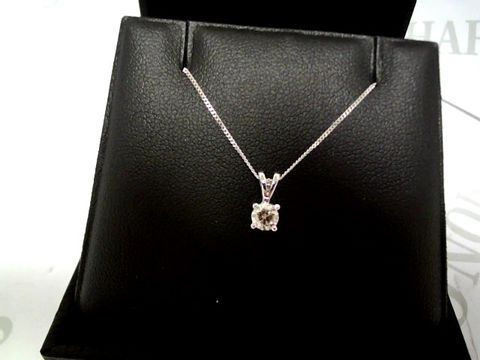 Lot 9057 LOVE DIAMOND 9 CARAT WHITE GOLD 33 POINT DIAMOND SOLITAIRE NECKLACE