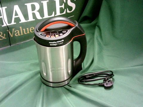 Lot 4047 MORPHY RICHARDS 48822 SOUP MAKER, STAINLESS STEEL 1000W, 1.6L