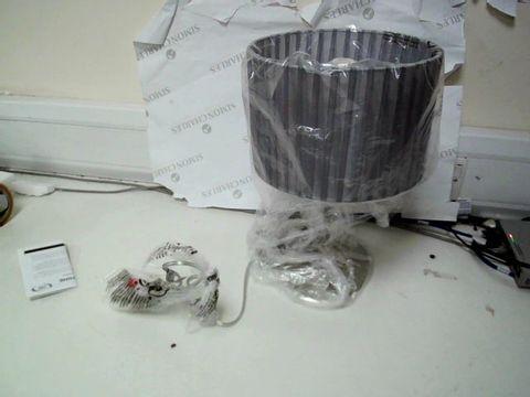 Lot 385 ARABELLA TABLE LAMP GREY  RRP £44.99