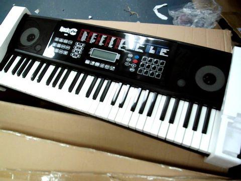 Lot 8409 ROCKJAM RJ761-SK KEY ELECTRONIC INTERACTIVE TEACHING PIANO KEYBOARD