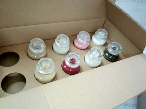 Lot 8340 SET OF 8 x 104g SMALL YANKEE CANDELS