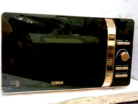 Lot 72 TOWER T24021 DIGITAL SOLO MICROWAVE - BLACK AND ROSE GOLD