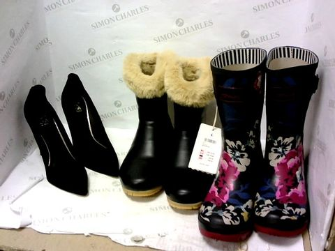Lot 8019 BOX OF APPROXIMATELY 8 ASSORTED DESIGNER FOOTWEAR ITEMS TO INCLUDE JOULES AND MODA IN PELLE