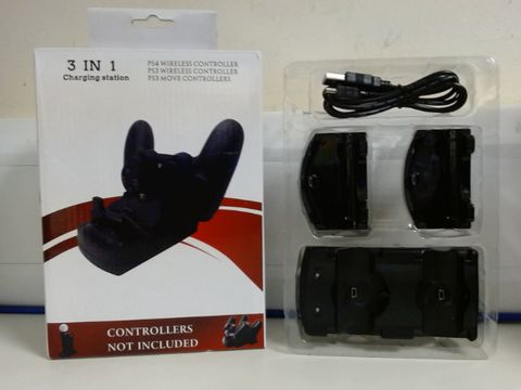 Lot 4817 PS3/PS4 WIRELESS CONTROLLER CHARGING STATION