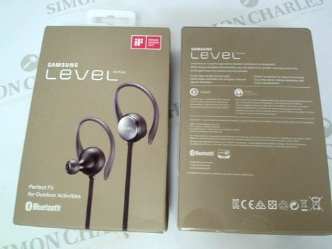 Lot 2408 BRAND NEW BOXED SAMSUNG LEVEL ACTIVE PERFECT FIT EARPHONES PERFECT FOR OUTDOOR ACTIVITIES