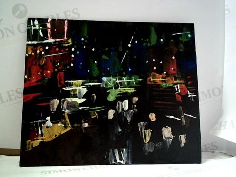 Lot 21 ORIGINAL PAINTING ON BOARD, SIGNED TO REAR