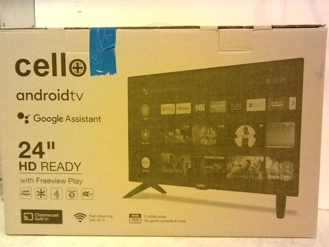 Lot 257 CELLO C2420G 24 INCH 720P SMART ANDROID TV