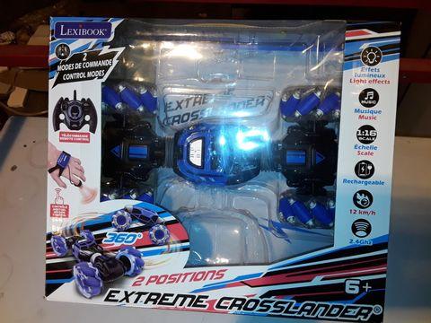 Lot 3168 LEXIBOOK EXTREME CROSSLANDER REMOTE CONTROL STUNT CAR