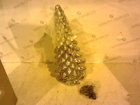 Lot 1080 MR CHRISTMAS MERCURY GLASS KALEIDOSCOPE TREE IN SILVER