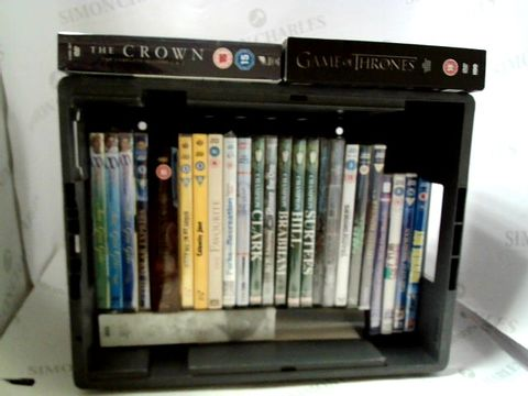 Lot 8129 LOT OF APPROXIMATELY 25 ASSORTED DVD'S TO INCLUDE; CALAMITY JANE, G.O.T, THE CROWN ETC