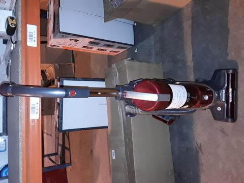 Lot 2436 HOOVER VELOCITY EVO REACH VE02 BAGLESS PETS UPRIGHT VACUUM CLEANER, RED & GREY, LONG REACH