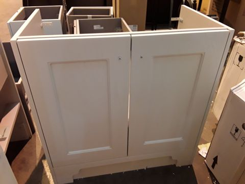 Lot 10644 DESIGNER DOUBLE DOOR FREESTANDING VANITY UNIT CREAM