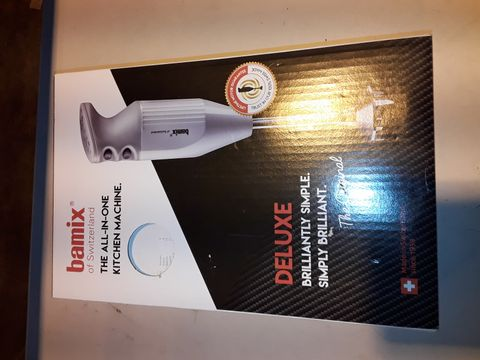 Lot 3191 BAMIX ALL IN ONE KITCHEN MACHINE DELUXE HAND BLENDER - WHITE