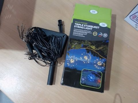 Lot 1011 SMART SOLAR TRIPLE STARBURST STRING LIGHT RRP £18.99
