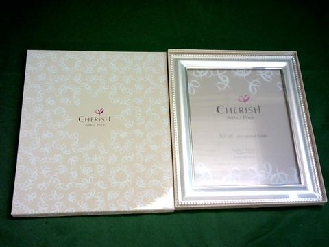 Lot 1091 CHERISH ARTHUR PRICE 10X8 INCH SILVER PLATED PICTURE FRAME