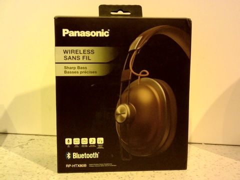 Lot 11625 PANASONIC RP-HTX80BE-R BLUETOOTH WIRELESS OVER-EAR HEADPHONES