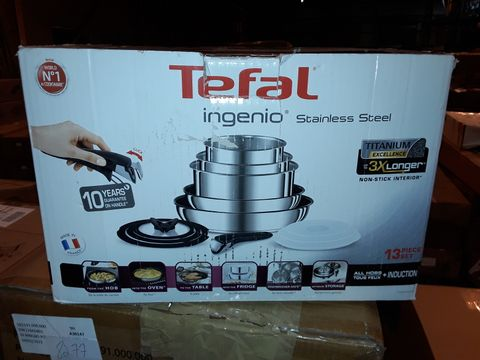 Lot 8284 TEFAL INGENIO STAINLESS STEEL COOKWARE SET