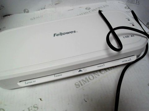 Lot 846 FELLOWES L125 A4 LAMINATOR