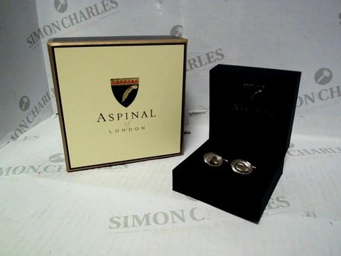 Lot 541 ASPINAL OF LONDON ENGRAVED SILVER CUFFLINKS - PMB