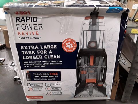 Lot 206 VAX RAPID POWER REVIVE CARPET WASHER