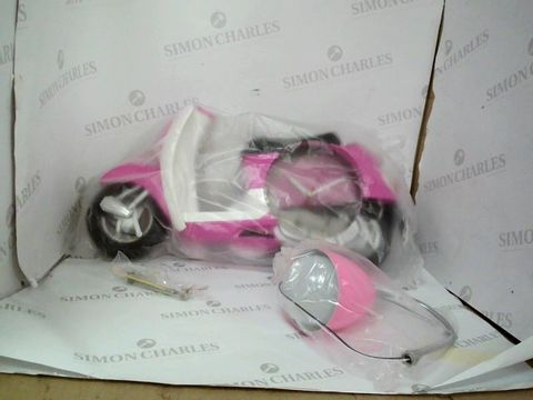 Lot 193 BOXED PINK SCOOTER LAMP AND CLOCK DUO