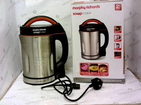 Lot 345 MORPHY RICHARDS 48822 SOUP MAKER, STAINLESS STEEL 1000W, 1.6L
