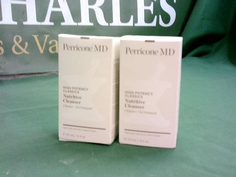 Lot 3158 PERRICONE HIGH POTENCY CLASSICS NUTRITIVE CLEANSER 177ML DUO