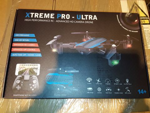 Lot 3345 XTREME PRO-ULTRA HIGH PERFORMANCE HD CAMERA DRONE