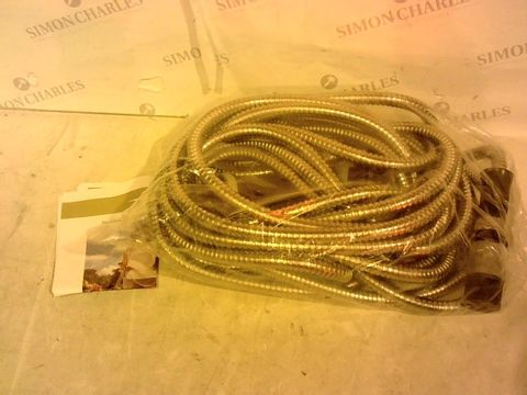 Lot 2070 STAINLESS STEEL HOSE PIPE  50ft WITH SPRAY HEAD