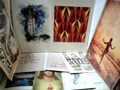Lot 36 LOT OF APPROXIMATELY 10 ASSORTED POSTERS, PRINTS, ARTWORKS ETC