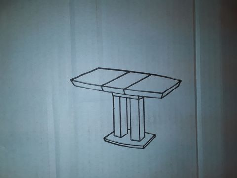 Lot 5014 BOXED GENISIMO EXTENDABLE PEDESTAL DINING TABLE - WHITE (3 BOXES)