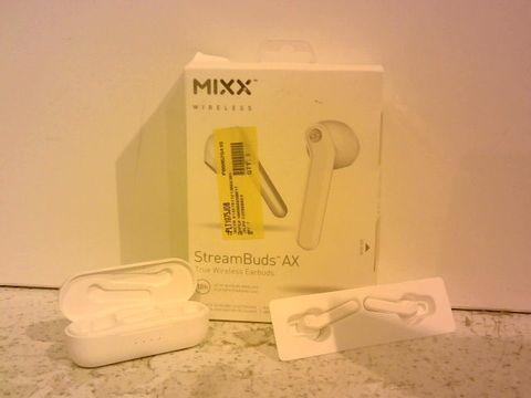 Lot 1214 MIXX AUDIO STREAM BUDS AX TRUE WIRELESS EARBUDS - WHITE
