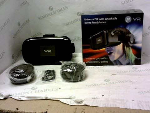 Lot 2072 BRAND NEW BOXED GOJI VR UNIVERSAL VR WITH DETACHABLE STEREO HEADPHONES