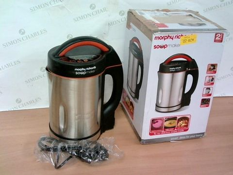 Lot 3135 MORPHY RICHARDS 48822 SOUP MAKER, STAINLESS STEEL 1000W, 1.6L