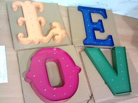 Lot 4025 MULTICOLOURED LED LOVE SIGN