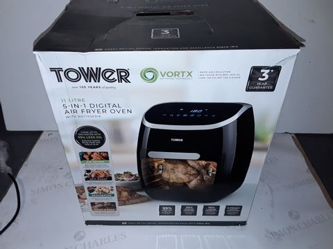 Lot 9121 TOWER 5-IN-1 DIGITAL AIR FRYER OVEN
