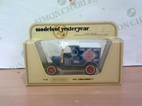 Lot 1000 EXCELLENT CONDITION MODELS OF YESTERYEAR 1912 FORD MODEL T