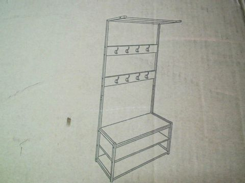 Lot 10347 WARMIEHOMY FLAT PACK COAT STAND AND SHOE RACK 60CM