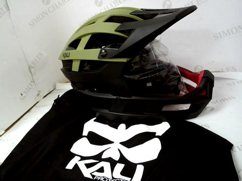 Lot 569 KALID - INVADER SOLID MAY KHK/GREEN   L-XXL 58-63CM HELMET