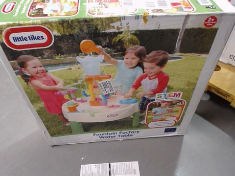 Lot 1180 BOXED LITTLE TIKES FOUNTAIN FACTORY WATER TABLE RRP £81.99