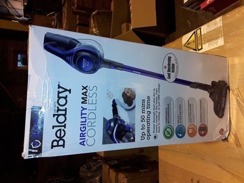 Lot 3349 BELDRAY AIRGILITY + CORDLESS VACUUM CLEANER