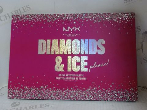 Lot 4635 NYX PROFESSIONAL MAKEUP DIAMONDS & ICE PLEASE THE ULTIMATE 80 - PAN ARTISTRY PALETTE RRP £69.99