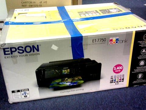 Lot 1021 EPSON ECOTANK ET-7750 A3 PRINT/SCAN/COPY WI-FI PHOTO PRINTER