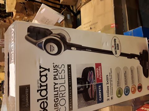 Lot 8068 BELDRAY AIRGILITY + CORDLESS VACUUM CLEANER