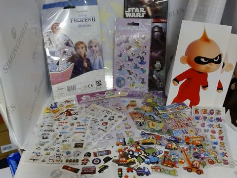 Lot 1528 LARGE RANGE OF ASSORTED STICKERS APPROX 15 SHEETS