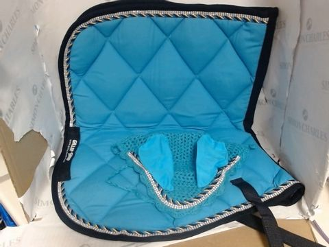 Lot 932 GALLOP SHOP NUMNAH GENERAL SADDLE PADS WITH MATCHING FLY VEIL SET & JEWEL TRIMMING - FOR PONY